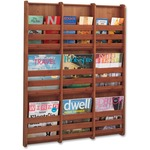 Safco 9-Pocket Bamboo Magazine Wall Rack SAF4624CY