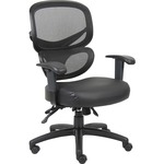 Lorell Mesh-Back Leather Executive Chair LLR60623