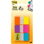 "Post-it 1"" Alternating Electric Glow Flags MMM680EGALT"