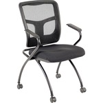 Lorell Mesh Back Fabric Seat Nesting Chairs LLR84374