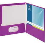 Business Source Two-Pocket Folders with Business Card Holder BSN44429