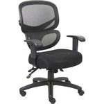 Lorell Mesh-Back Fabric Executive Chairs LLR60622