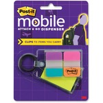 Post-it Attach n Go Notes/Tabs Key Chain Dspnsr MMMPMKC1