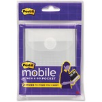 Post-it Attach and Go Small Transparent Pocket with Closure MMMPMPSM1CR