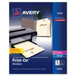 Avery Ivory Customizable Print-On Dividers AVE11512