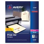 Avery Ivory Customizable Print-On Dividers AVE11529