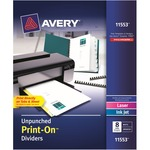 Avery Customizable Unpunched Print-On Dividers AVE11553