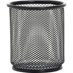 Lorell Black Mesh/Wire Pencil Cup Holder LLR84149