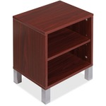 Lorell Concordia Series Mahogany Laminate Desk Ensemble LLR81932
