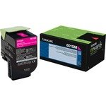 Lexmark 801SM Magenta Standard Yield Return Program Toner Cartridge LEX80C1SM0