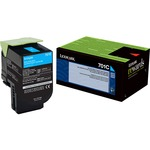 Lexmark 701C Cyan Return Program Toner Cartridge LEX70C10C0