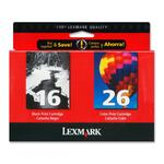Lexmark Twin Pack Color Ink Cartridge LEX10N0202