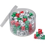 "ChenilleKraft Drum of Dice - 144 Pcs - 5/8"" Cubes CKC707"