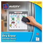Avery Peel & Stick Dry Erase Calendar Sheet AVE24307