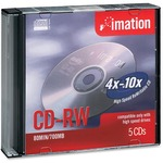 Imation CD Rewritable Media - CD-RW - 12x - 700 MB - 5 Pack Jewel Case IMN16950