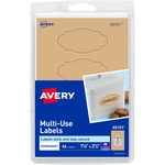 "Avery Removable Multi-Use Labels 40151, Kraft Brown, 1-1/8"" x 2-1/4"", Pack of 24 AVE40151"