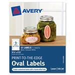 "Avery Print-to-the-Edge Oval Labels 41458, Matte, 3-3/4"" x 1-5/8"", Pack of 15 AVE41458"