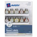 "Avery Embossed Round Labels 41466, Matte Silver Foil, 2"" Diameter, Pack of 48 AVE41466"