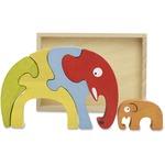 BeginAgain Toys Elephant Family Puzzle a1204