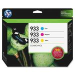 HP 933 Combo Pack Ink Cartridge/Paper Kit - Cyan, Magenta, Yellow HEWB3B32FN