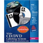 Avery Matte White Film DVD Labeling System AVE5695