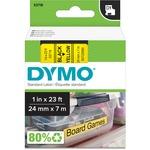 Dymo Black on Yellow D1 Label Tape DYM53718