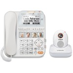 VTech CareLine SN1197 DECT 6.0 Expandable Corded Phone with Answering System and Cordless Pendant, White with 1 Handset and 1 Pendant ATTSN1197