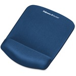 Fellowes PlushTouch Mouse Pad/Wrist Rest with FoamFusion Technology - Blue FEL9287301