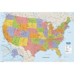 House of Doolittle Laminated U.S. Map HOD720