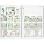 Rediform N. American Financial Desk Calendar Refill REDC6R