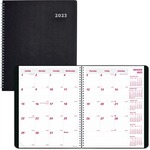 Rediform Duraflex Dated Monthly Planner REDCB1200VBLK