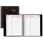 Rediform Twin-wire 24-hour Planning Daily Planner REDCB635WBLK