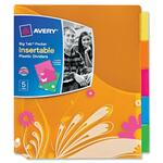 Avery Big Tab Pocket Insertable Plastic Dividers AVE07712