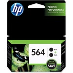 HP 564 2-pack Black Original Ink Cartridges HEWC2P51FN