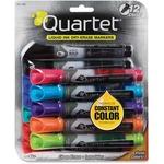 Quartet EnduraGlide Dry Erase Markers, Chisel Tip, Assorted Colors, 12/Set QRT500120M