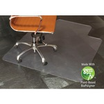 E.S.ROBBINS Clear Vinyl Nat. Origins Lip Chair Mat ESR143002