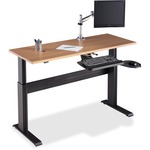 Lorell Height-adjustable Workstation Tabletop - Latte LLR81961