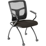 Lorell Mesh Back Fabric Seat Nesting Chair LLR8437404