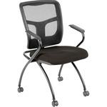 Lorell Mesh Back Fabric Seat Nesting Chairs (8437404)