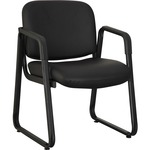 Lorell Black Leather Guest Chair LLR84577