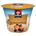 Quaker Oats Maple and Brown Sugar Instant Oatmeal Cup QKR26585