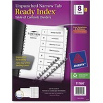Avery Ready Index Unpunched Narrow Tab Dividers AVE11164