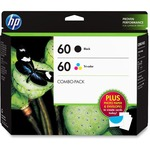 HP 60 Value Pack Ink Cartridge - Tri-color, Black HEWD8J23FN