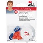 Tekk Protection Corded Reusable Earplugs MMM9058680025T
