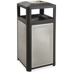 Safco EVOS Side Open/Ash Steel Waste Receptacle SAF9933BL