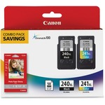 Canon PG-240XL/CL-241XL/GP-502 Combo Pack Ink Cartridge/Paper Kit - Black, Tri-color CNM240XCL241XL