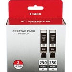 Canon PGI-250 XL Twin-pack Ink Cartridge - Pigment Black CNMPGI250XL2PK