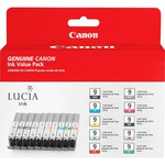 Canon LUCIA PGI-9 Value Pack Ink Cartridge - Matte Black, Multicolor CNMPGI910CLRS