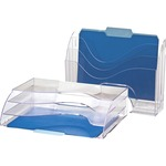 OIC Clear Wave 2-way Desktop Organizer OIC22904