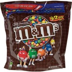 M&M's Plain Chocolate Candy w/Zipper MRSSN32438